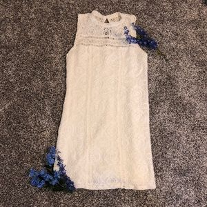 Hollister white lace dress in size 5